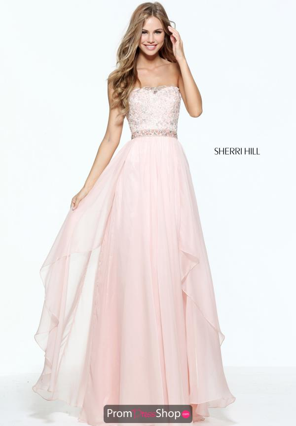 Sherri Hill Long Chiffon Dress 51052