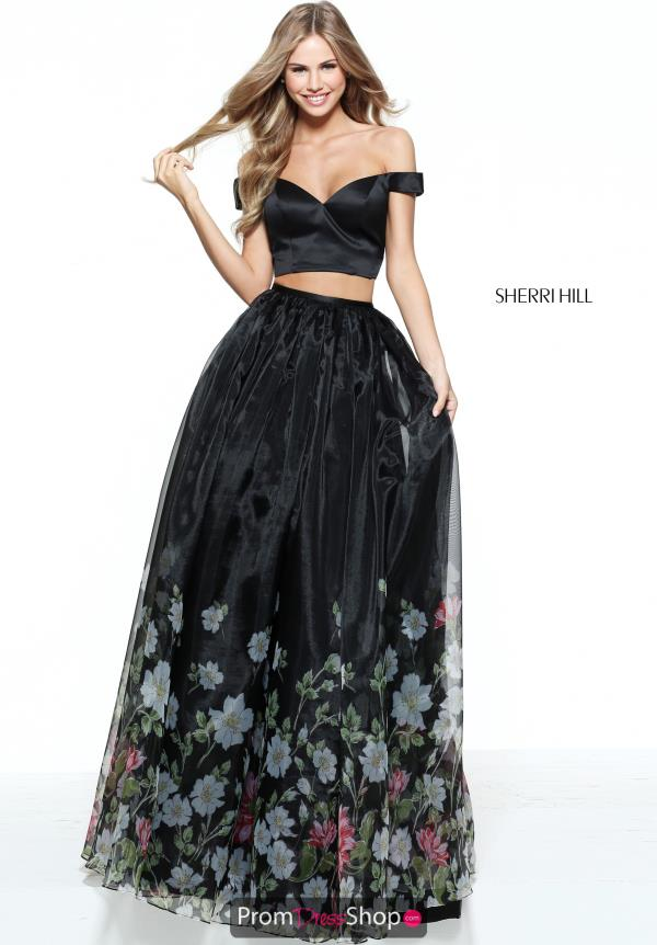Sherri Hill Cap Sleeved A Line Dress 51053