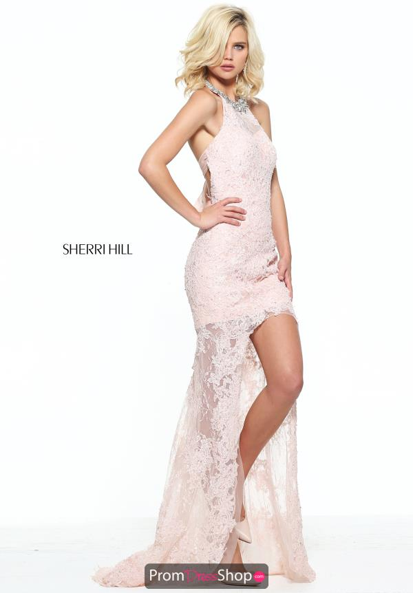 Sherri Hill Fitted Lace Dress 51058
