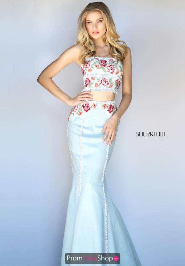 Sherri Hill Fitted Print Dress 51060