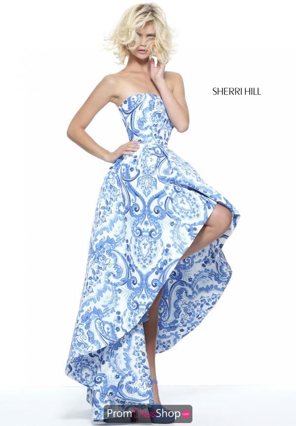 Sherri Hill Strapless A Line Dress 51097