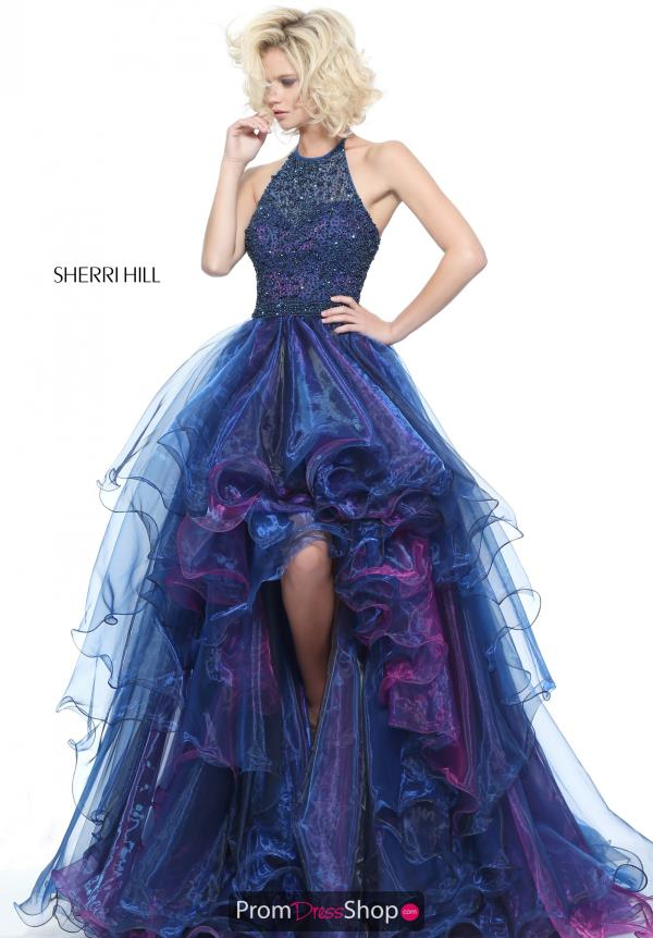 Sherri Hill Beaded High Low Dress 51140