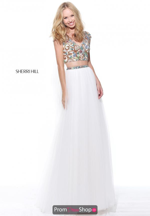 Sherri Hill Sleeved Beaded Dress 51166