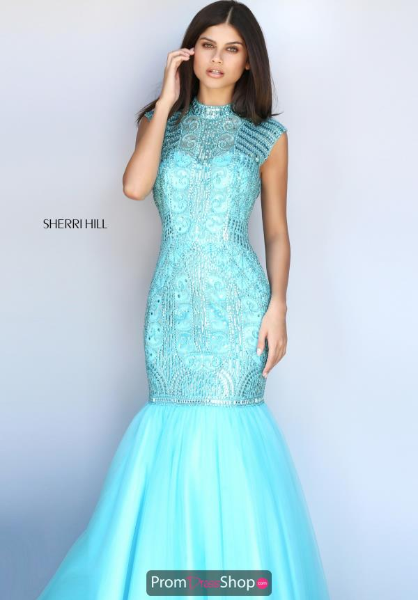 Sherri Hill Blue Mermaid Dress 51174