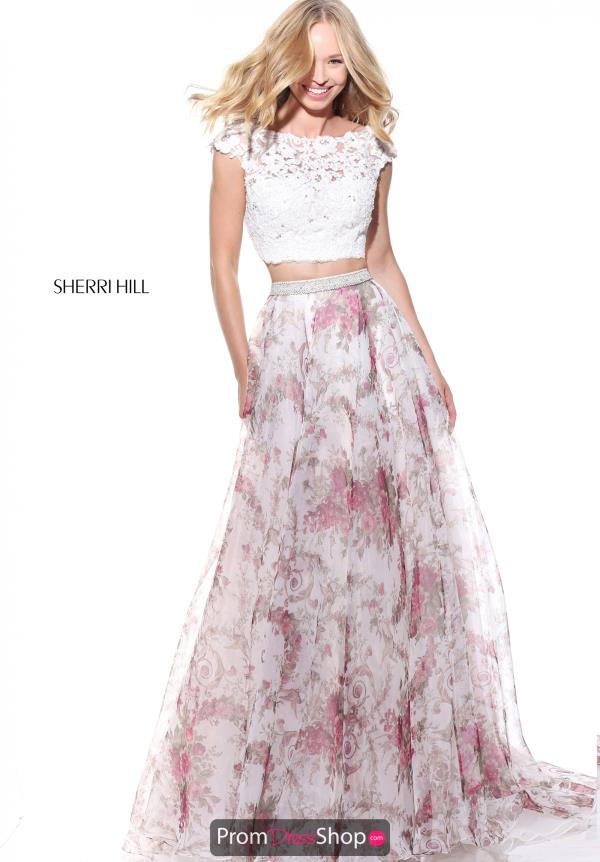 Sherri Hill Two Piece Print Dress 51176
