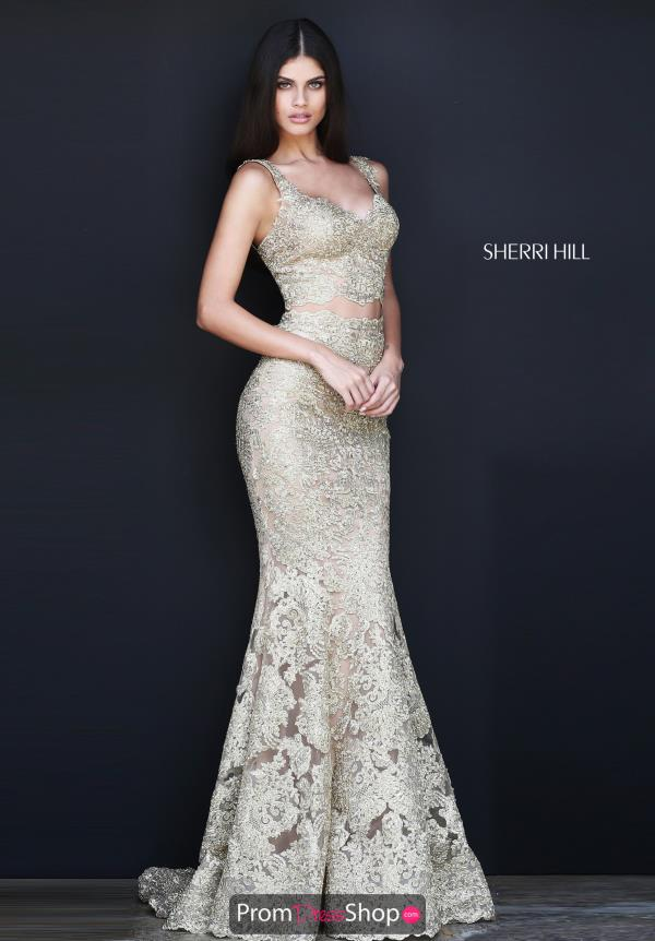 Sherri Hill Long Beaded Dress 51192