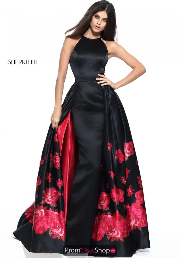 Sherri Hill Long SatinDress 51193