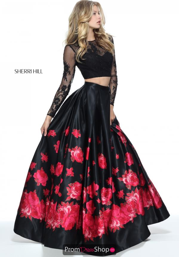 Sherri Hill Long Black Dress 51195