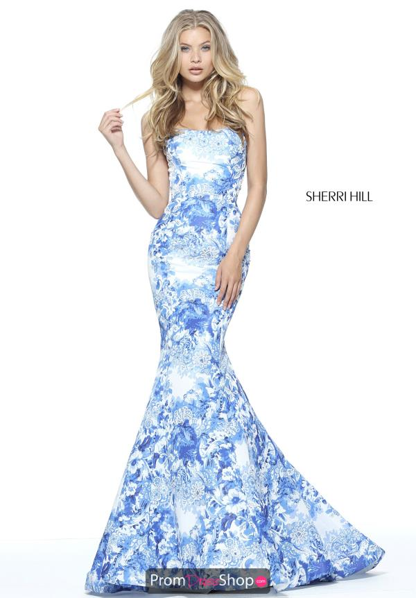 Sherri Hill Long Fitted Dress 51198