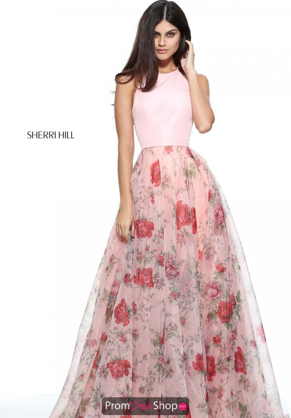 Sherri Hill Floral A Line Dress 51201
