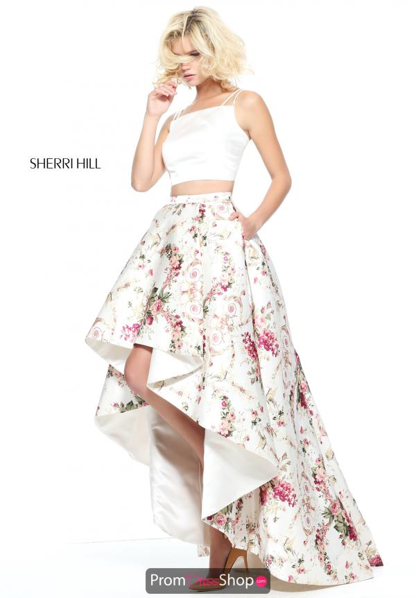 Sherri Hill Two Piece High Low Dress 51205