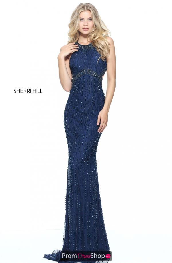 Sherri Hill Long Beaded Dress 51241