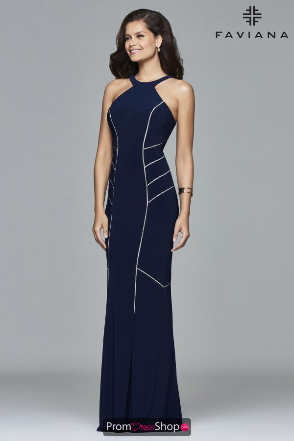 Faviana Long Fitted Dress 7917