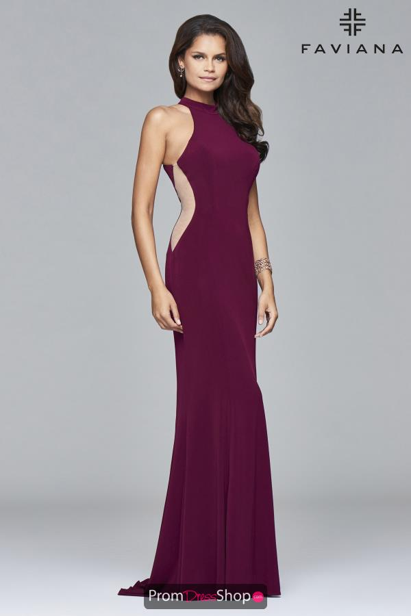 Faviana Long Fitted Dress 7943