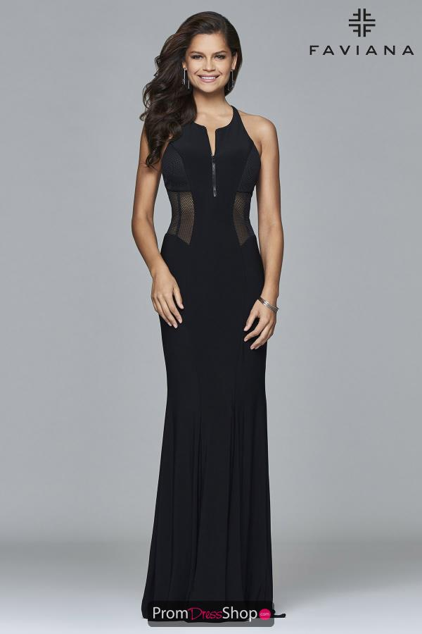 Faviana High Neckline Fitted Dress 7944