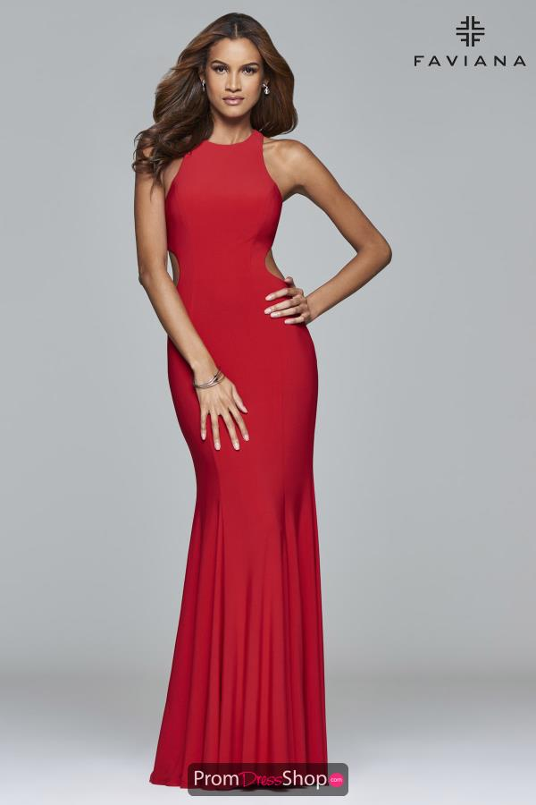 Faviana Fitted Long Dress 7945
