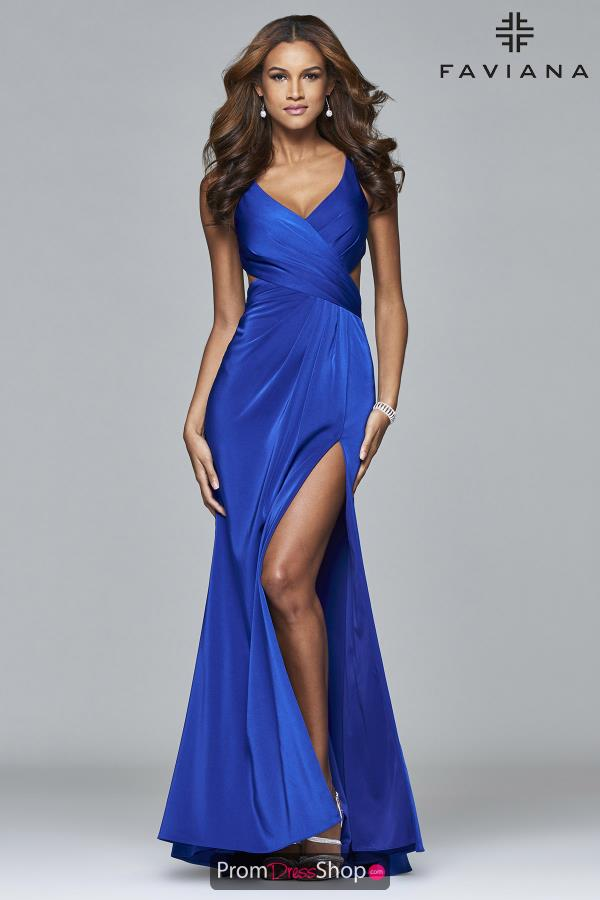 Faviana Long Fitted Dress 7954