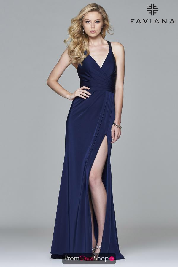 Faviana Satin Long Dress 7956