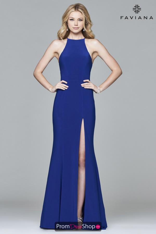Faviana Fitted Long Dress 7976