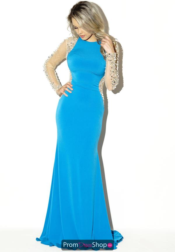 Jovani High Neckline Jersey Prom Dress 99172