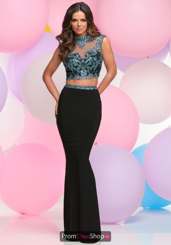 Zoey Grey Two Piece Beaded Dress 31077