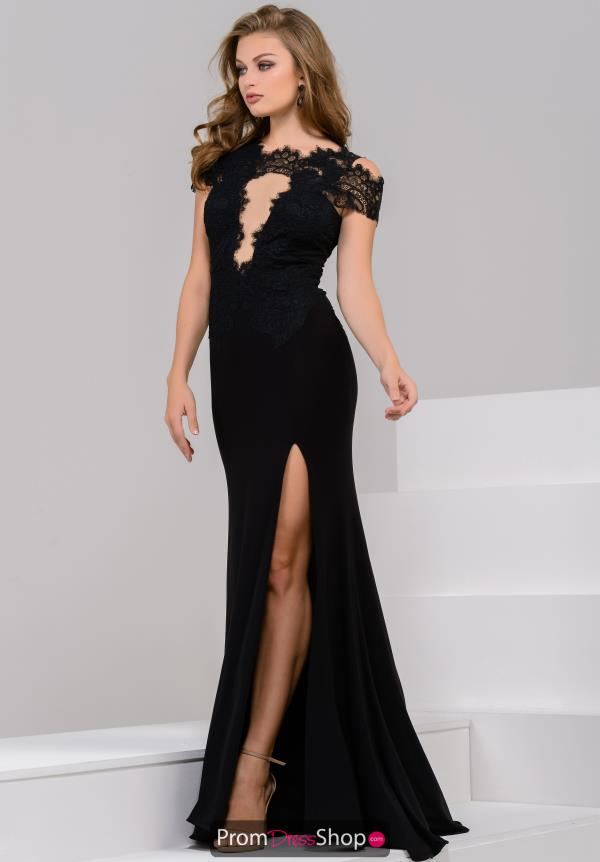 JVN by Jovani Long Lace Dress JVN43013