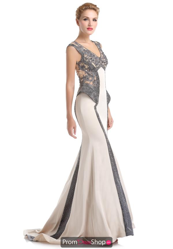 Long Fitted Romance Couture Dress RD1525
