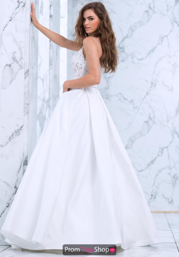 Tarik Ediz A Line Taffeta Dress 50072