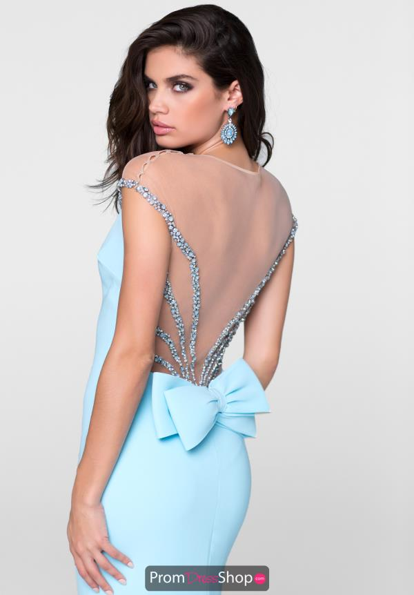 Tarik Ediz Long Beaded Dress 50097