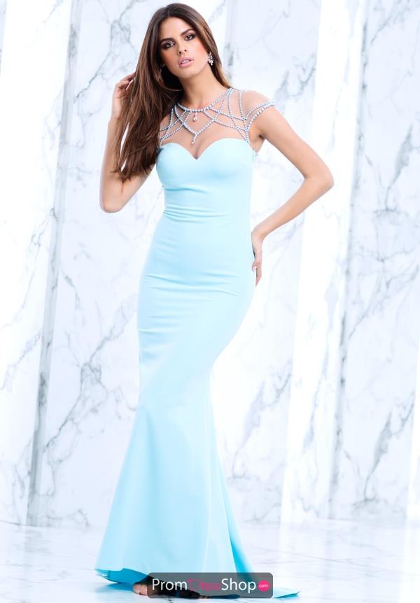 Tarik Ediz Cap Sleeve Fitted Dress 50098