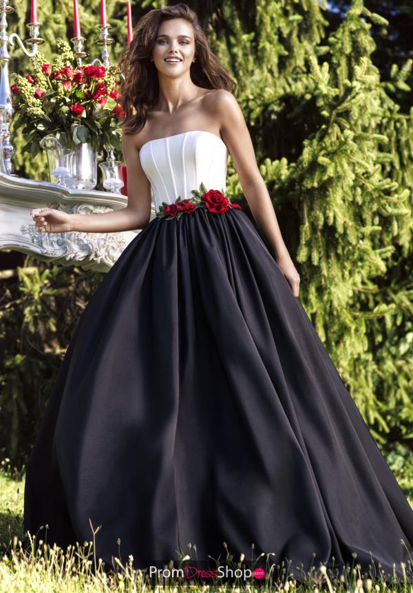 Tarik Ediz Strapless Taffeta Dress 93112