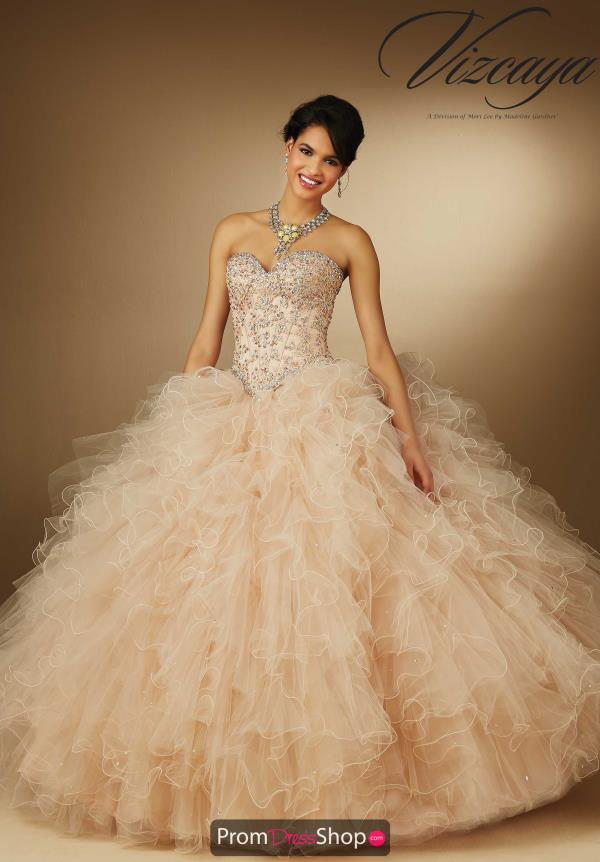 Vizcaya Quinceanera Applique Corset Dress 89049