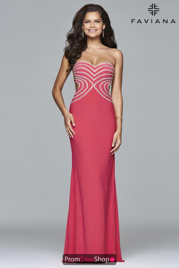 Faviana Sexy Evening Gown Dress S7701