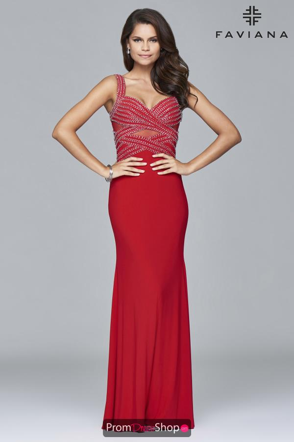 Faviana Long Fitted Dress S7806