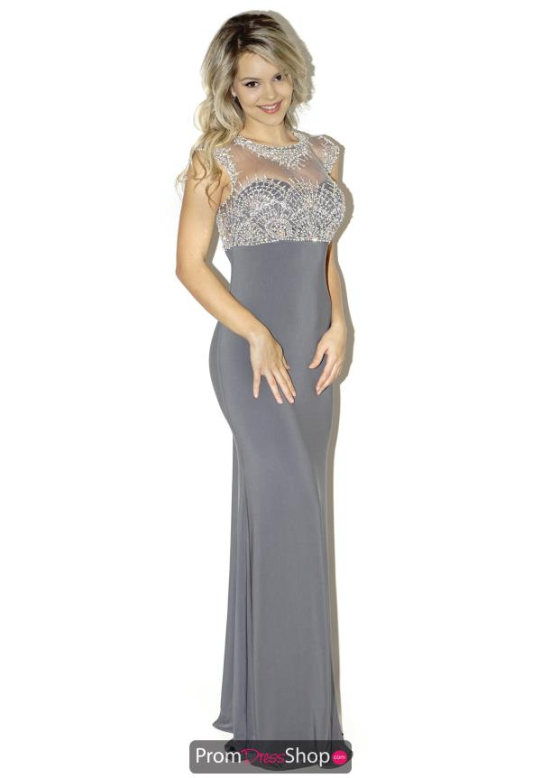 La Femme Jersey Fitted Dress 20537