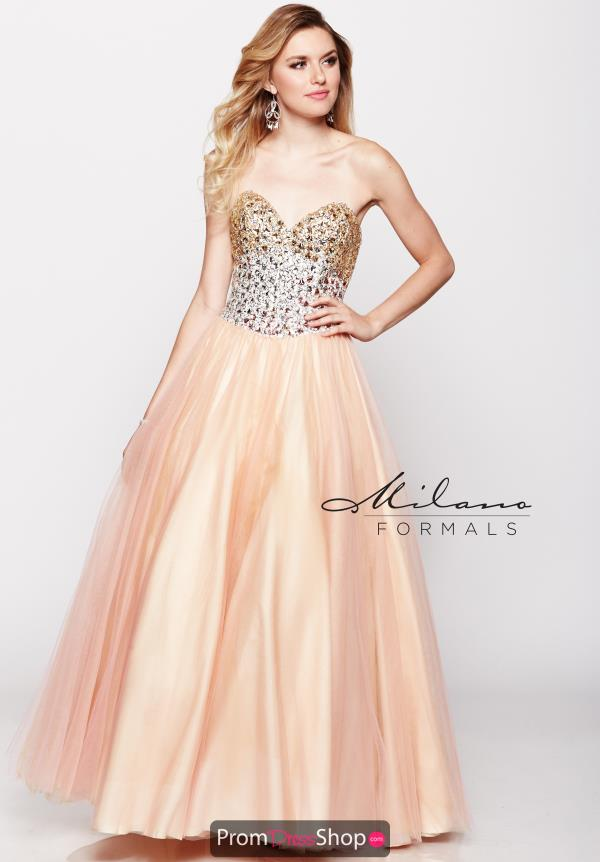 Milano Formals Strapless Ball Gown Dress E1619