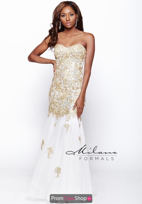 Gorgeous Mermaid Milano Formals Prom Dress E1738