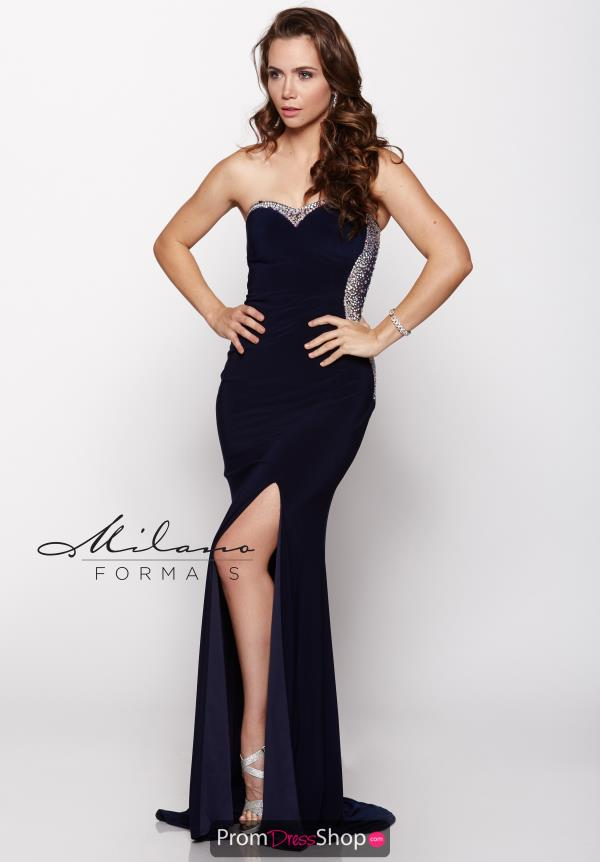 Milano Formals Amazing Strapless Dress E1778