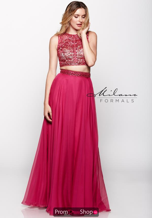 Milano Formals Beaded Two Piece Dress E1965