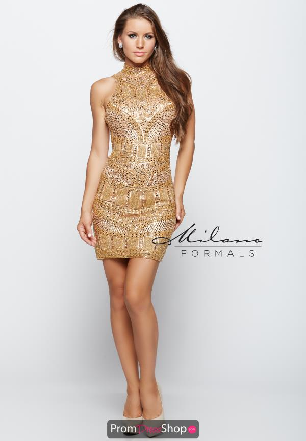Short Fitted Milano Formals Dress E1977