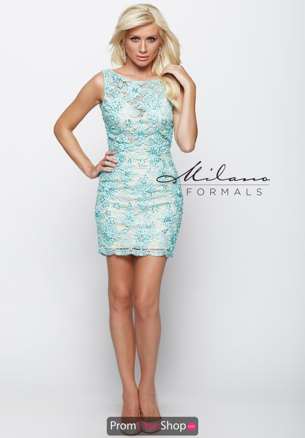 Milano Formals High Neckline Short Dress E1983