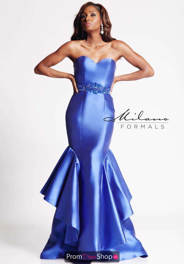 Milano Formals Blue Mermaid Dress E2016