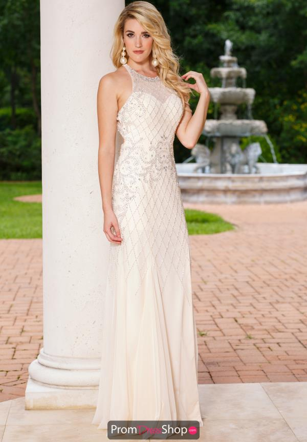 Sean High Neckline Long Dress 50853