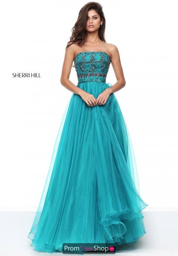 Sherri Hill Long Organza Dress 50344