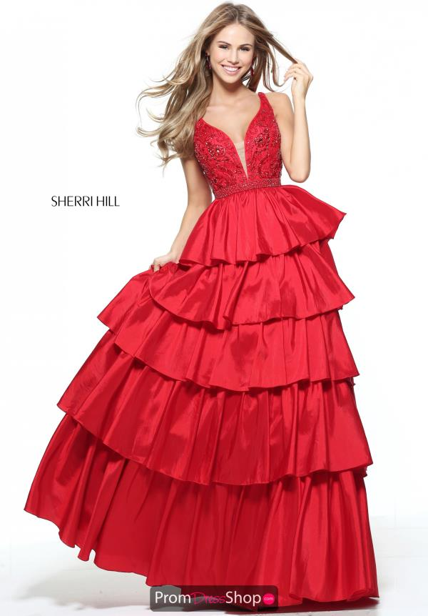 Long Beaded Sherri Hill Dress 50719