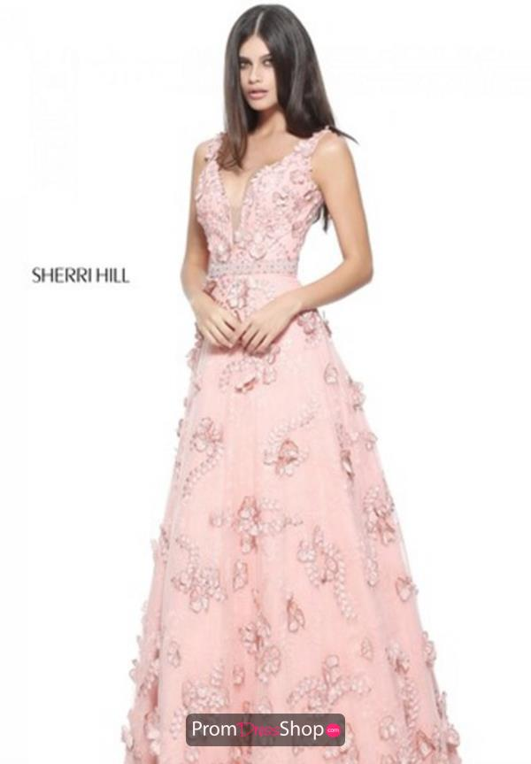 Sherri Hill Beaded A Line Dress 51111