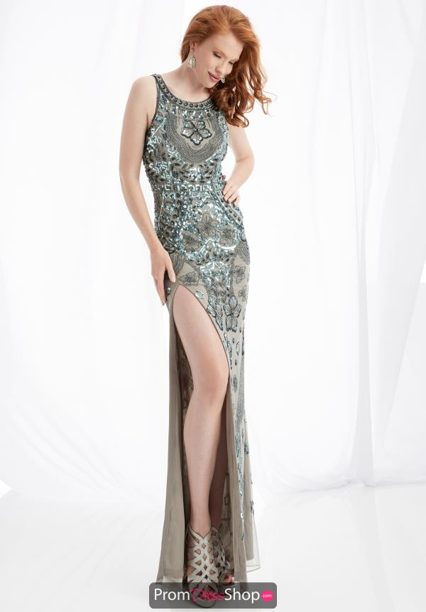Jasz Couture Open Back Fitted Dress 1349