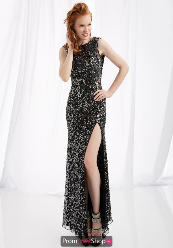 Jasz Couture Fitted Sequins Dress 1352