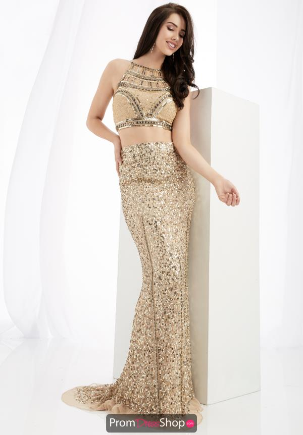 Jasz Couture Long Beaded Dress 1362