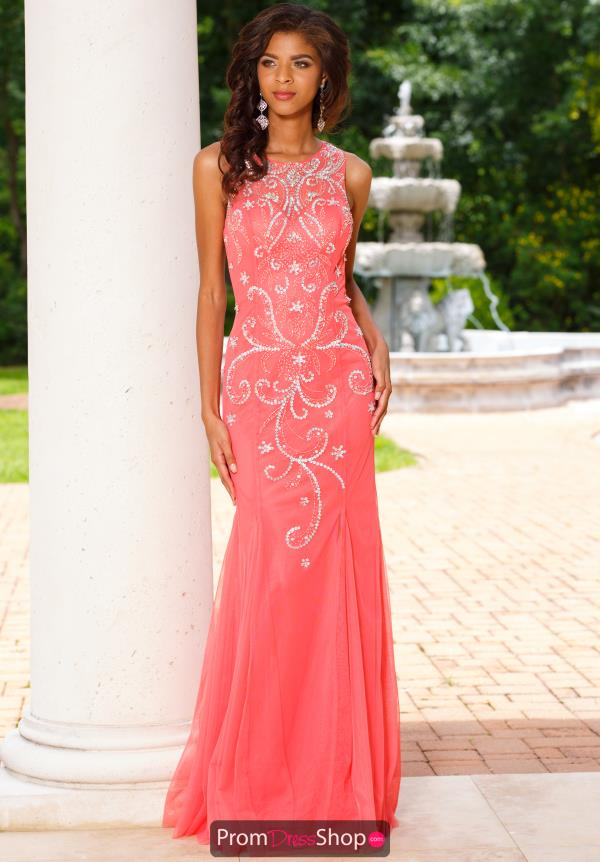 Sean Long Beaded Dress 50958
